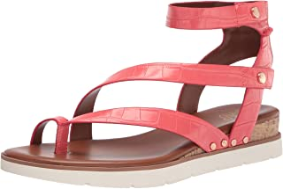 Franco Sarto Women's Daven Sandal, Coral, 9.5
