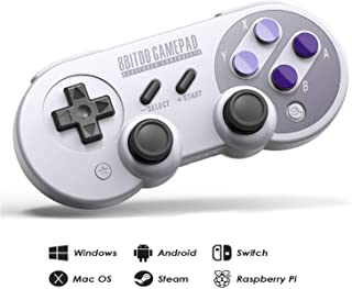 8Bitdo SN30 Pro Wireless Bluetooth Controller with Joysticks Rumble Vibration USB-C Cable Gamepad for Windows, Mac OS, Android, Steam, Compatible with Nintendo Switch