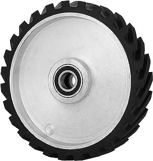 Happybuy 12 x2 inch Belt Grinder Rubber Wheel Serrated Rubber Contact Wheel 6206 Bearing Belt Grinder Wheel