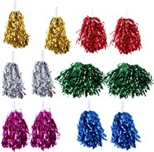 HOSTK 24pcs 30g Pom-Pom-Pom Girls Pom en Plastique m/étallique Feuille avec Baton poign/ée pour Performance Ball Dance Party Football Club D/écoration Fun Spirit Fun Cheering Pompon Pompom