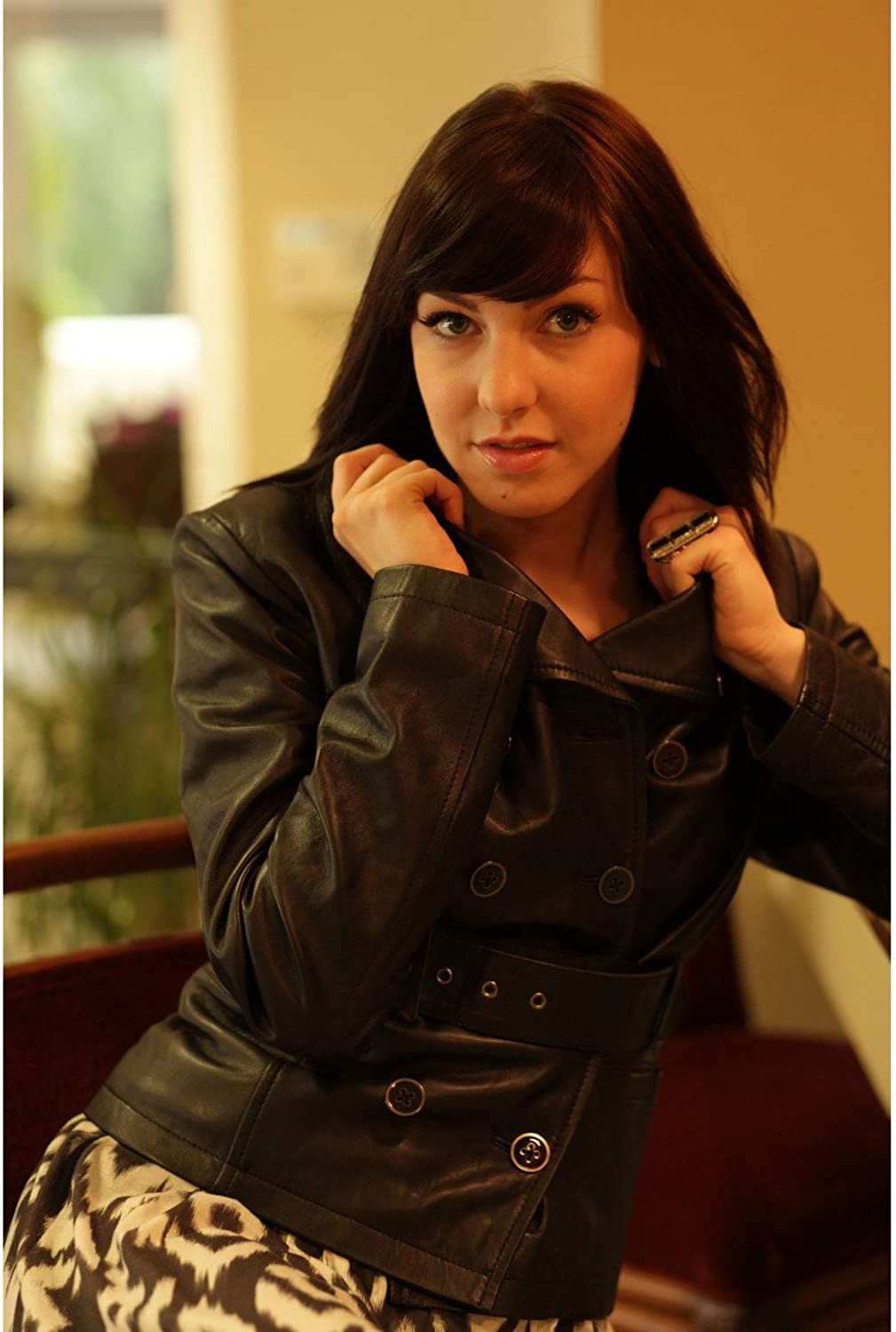 Fadcloset Small Button Up Leather Jacket