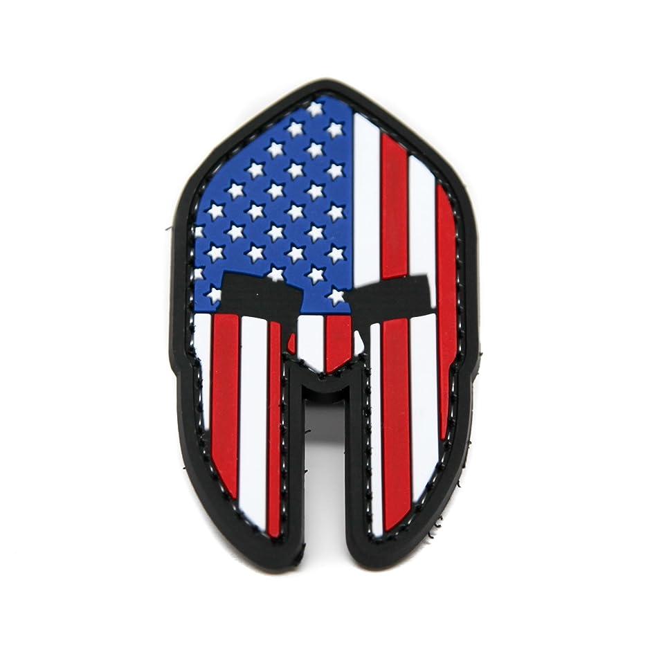 Spartan Molon Labe US Flag PVC Rubber Morale Patch by NEO Tactical Gear Morale Patch