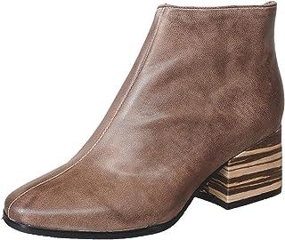 414ba9177fb09 Antelope Women's 574 Leather Smooth Block Heel Bootie