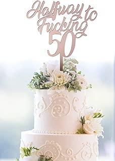 halfway to 50 birthday cake