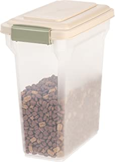 IRIS Premium Airtight Pet Food Storage Container, 12.5-Pounds, Almond