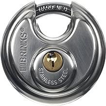 Brinks 663-60001 2-3/8-Inch 60mm Stainless Steel Discus Padlock
