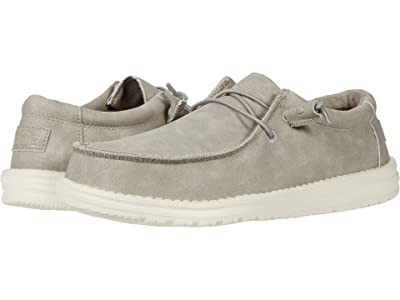 Hey Dude Wally Recycled Leather (Grey) Men