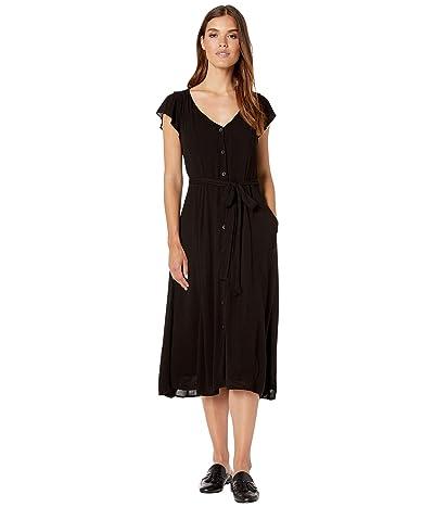 Sanctuary Eden Button Front Dress (Black) Women
