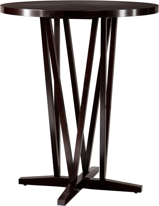 Direct store SEI Furniture Devon Contemporary Height Max 41% OFF Table Espresso Bar Dark