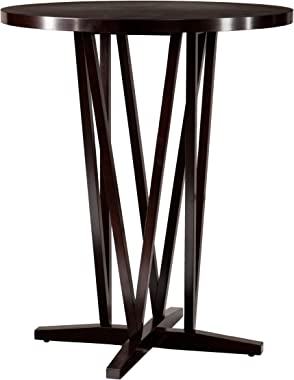 SEI Furniture Devon Contemporary Height Bar Table, Dark Espresso