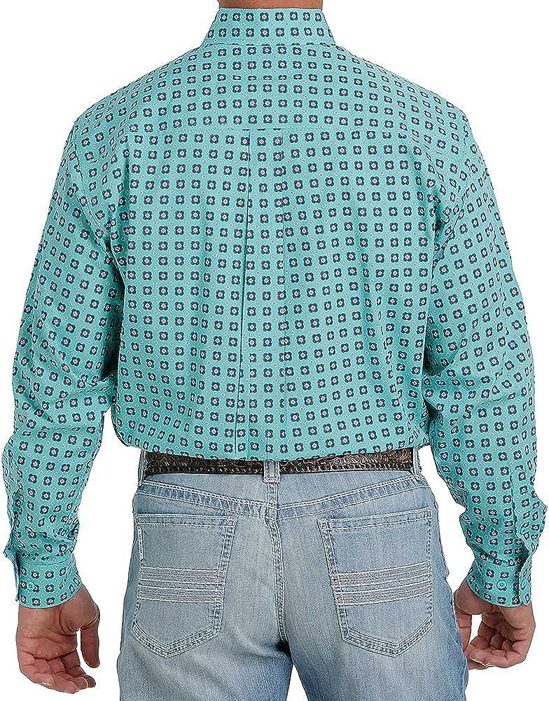 Cinch Men's Floral Geo Print Long Sleeve Western Shirt
