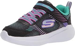 Skechers girls Skechers Sport, Skechers Light Weight, Skechers Air Cooled Goga Mat Sneaker, Black/Multi, 10.5 Little Kid US