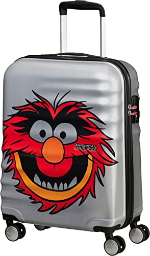 American Tourister Wavebreaker Disney - Muppets Spinner Small Bagage Cabine, 55 cm, 36 Liters, Gris (Animal Sparkle)