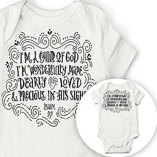 9d0e8b848 Child Of God Baby Onesie, Cute Baby Bodysuit Baptism Christening Gift,  Christian Baby Gift