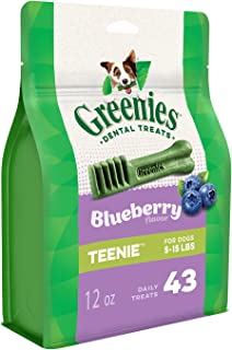 Greenies Blueberry Dental Chew Teenie Dog Treats 340 g, 12 oz