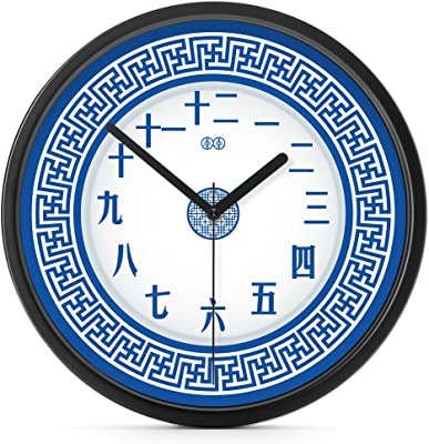 dvsdfvsdvf wall clock bracket clock System clock horologe horologium quartz clock crystalChinese classical blue and white