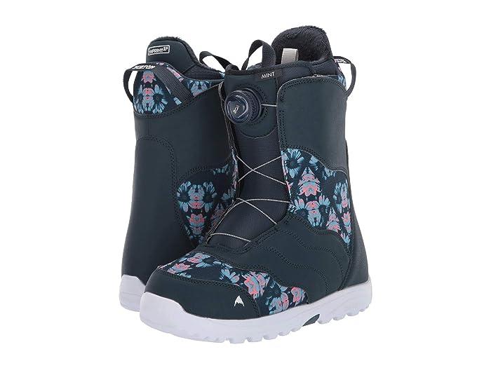 Burton  Mint Boa Snowboard Boot (Midnite Blue/Multi) Womens Cold Weather Boots