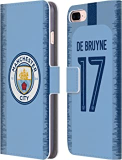 Official Manchester City Man City FC Kevin De Bruyne 2018/19 Players Home Kit Group 1 Leather Book Wallet Case Cover Compatible for iPhone 7 Plus/iPhone 8 Plus