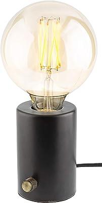 Gadgy ® Tischlampe Dimmbar | Schwarz Retro Vintage Modern und Industrial Design | Mit LED Edison Glühbirne