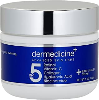 5 in 1 Retinol, Vitamin C, Collagen, Hyaluronic Acid and Niacinamide | Potent Face Cream which May Help Imp...