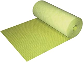Profilitec 1/8 Inch Thick Lay-Flat (No Curling) Uncoupling Membrane Underlayment - 323 Sq Ft Roll (3.3 Feet by 98.5 Feet) - Translucent Color for Easy Installation