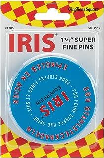 Euro-Notions Iris Swiss Super Fine Pins, 500-Pack (Renewed)