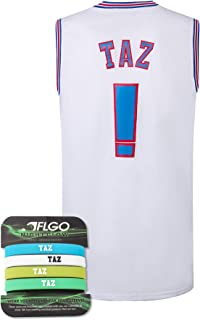 AFLGO Taz ! Space Jersey Basketball Jersey Include Set Glow in The Dark Wristbands Halloween Costumes