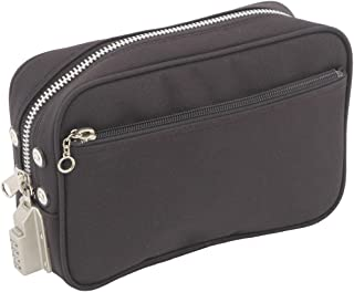 鍵のいらない鍵付バッグ 鍵付セキュリティポーチ SED-1錠付こっそり泥棒対策 現金パスポート収納 SED13063 (黒)