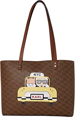 Brown/Khaki/Luggage Saffiano