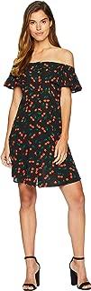 Women's Cherry Motif Midi Dress