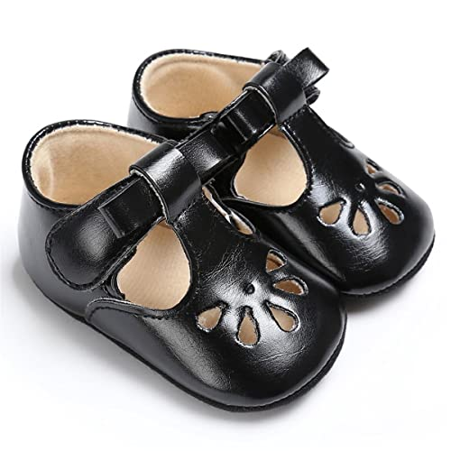 ff05aa96c837 BENHERO Baby Girls Mary Jane Flats with Bowknot Non-Slip Toddler First  Walkers Princess Dress
