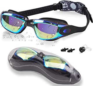 FMU Swim Goggles, No Leaking Anti Fog UV Indoor Outdoor...