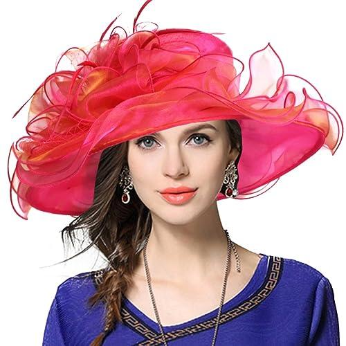 JESSE · RENA Women s Church Derby Dress Fascinator Bridal Cap British Tea  Party Wedding Hat 8a74313fea5
