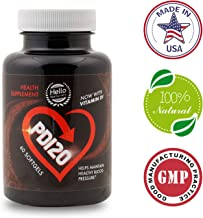PD120®️- HIGH Blood Pressure Supplement to Lower BP Naturally - Premium Heart Health Liquid Softgels - COQ10, Vitamin D, L-Theanine for Stress Reduction