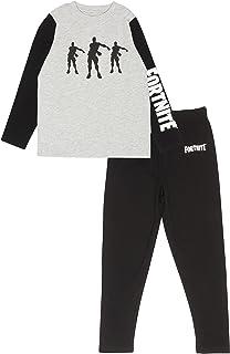 Fortnite Short Pyjama Set For Boys, Beef Boss and Logo Crew Neck T-Shirt with Shorts Juegos de Pijama para Niños