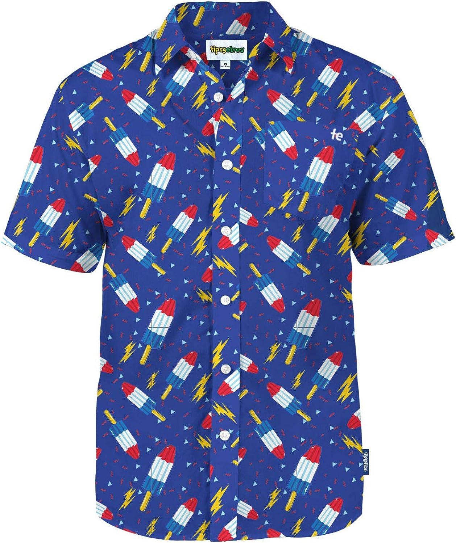 Men's USA Patriotic Hawaiian Shirt - Patriotic Aloha Shirts for Guys