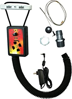 """IQ110 BBQ Temperature Regulator Kit with Aluminum Hose Barb and Flange Pit Adapters for Gateway Drum Smoker (55 Gal) and Other BBQ Drum Smokers with Intake Flange or 1"""" Ball Valve"""