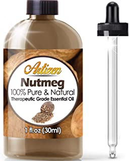 Artizen Nutmeg Essential Oil (100% Pure & Natural - UNDILUTED) Therapeutic Grade - Huge 1oz Bottle - Perfect for Aromather...