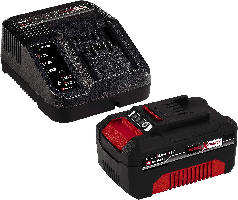 Einhell TE-CI 18 Li Solo Power X-Change Cordless Brushless Impact Driver with Original Einhell 18 V 4.0 Ah Power X-Change Starter Kit