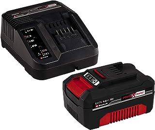 Einhell 4512042 - Kit con Cargador y batería de repuesto de 18 V, 4 Ah, 0 W, 21 V, 4.0, Tiempo de Carga: 60 Minutos, Negro...