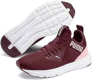 PUMA ENZO BETA Shine JR Girls Outdoor Multisport Training Shoes, Vineyard Wine-Bridal Rose