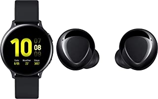 Samsung Galaxy Watch Active 2 (Bluetooth, 44 mm) - Black, Aluminium Dial, Silicon Straps with Buds+
