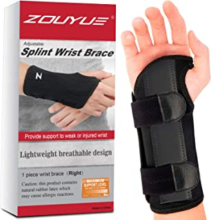 Carpal Tunnel Wrist Brace, Night Sleep Wrist Support, Removable Metal Wrist Splint for..