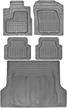 Motor Trend BC210-B2 Grey Performance Plus Rubber Car Floor Mats & Cargo Weather Liners 5pc Set (Gray)