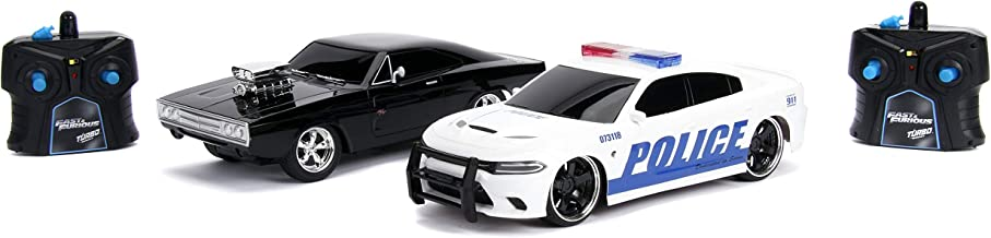 Police /& Chase Car Rc Dodge Charger SRT Hellcat Fast /& Furious Twin Pack