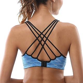 Vegatos Women's Sports Bras Low Impact Wirefree Yoga Top Workout Activewear