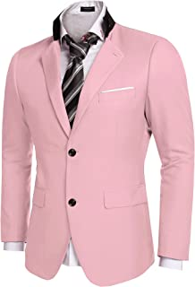 Men's Casual Dress Suit Slim Fit Stylish Blazer Coats Jackets