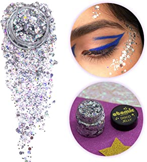 ATOMIC MAKEUP Body Glitter - Vegan & Cruelty Free - The Tunnel (Silver) - Glitter for Face, Hair, Festivals, Raves, Costumes