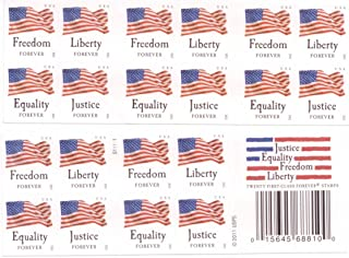 "USPS Forever Stamps ""Four Flags"" Booklet of 20 Stamps"