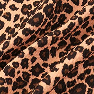 Leopard Print Dark Purple Fabric per METRE LYCRA JERSEY SPANDEX From £ 15.99